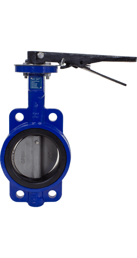 Cast Iron Resilient Seated Butterfly Valve Class 125 Wafer Image