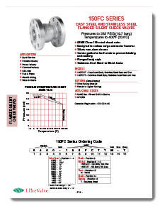 Carbon Steel Silent Check Valve Class 150 FLG SSI Brochure