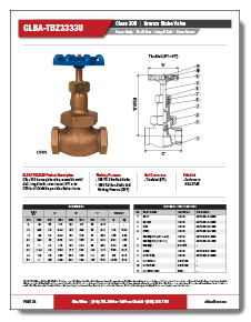 Bronze Globe Valve Class 300 Metal Disc Elite Valve Brochure