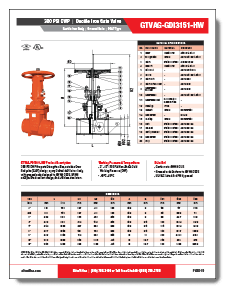 Ductile Iron Fire Protection Valve 300 PSI OS&Y Grooved Elite Valve Brochure