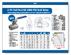 2-Piece Stainless Steel Ball Valve 2000 WOG B02 Elite Valve Brochure