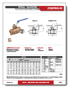 2-Piece Bronze Ball Valve Class 150 TFP620-SS Elite Valve Brochure