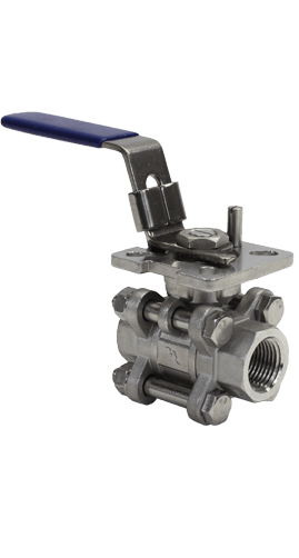 3-Piece Stainless Steel Ball Valve 1000 WOG B05 Elite Valve Image